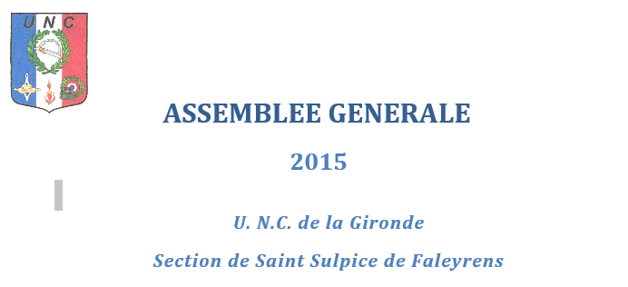 UNC : assemblée générale 2015