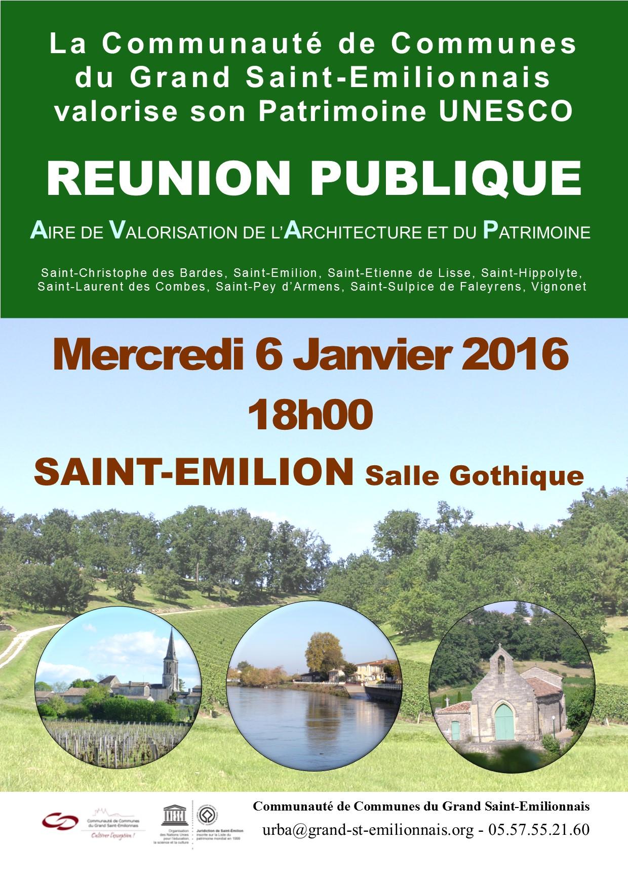 Affiche Reunion publique AVAP
