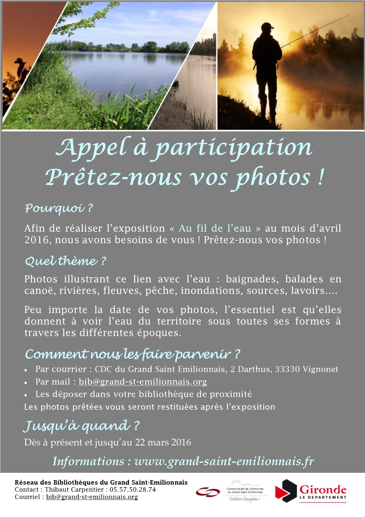 Affiche appel participation