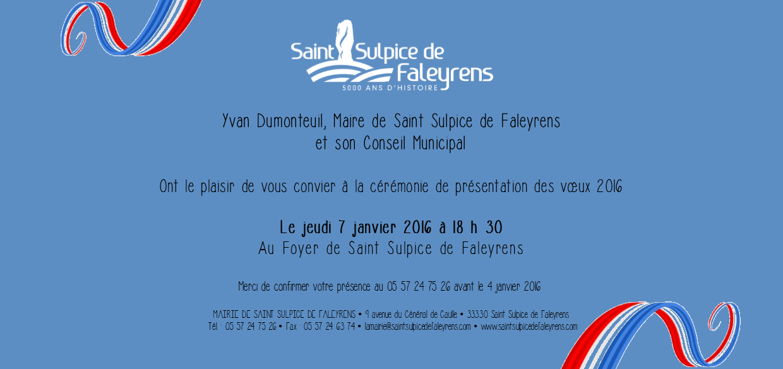 invitation voeux 7 janvier 2016