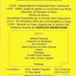 Banquet UNC 8 Mai 2016