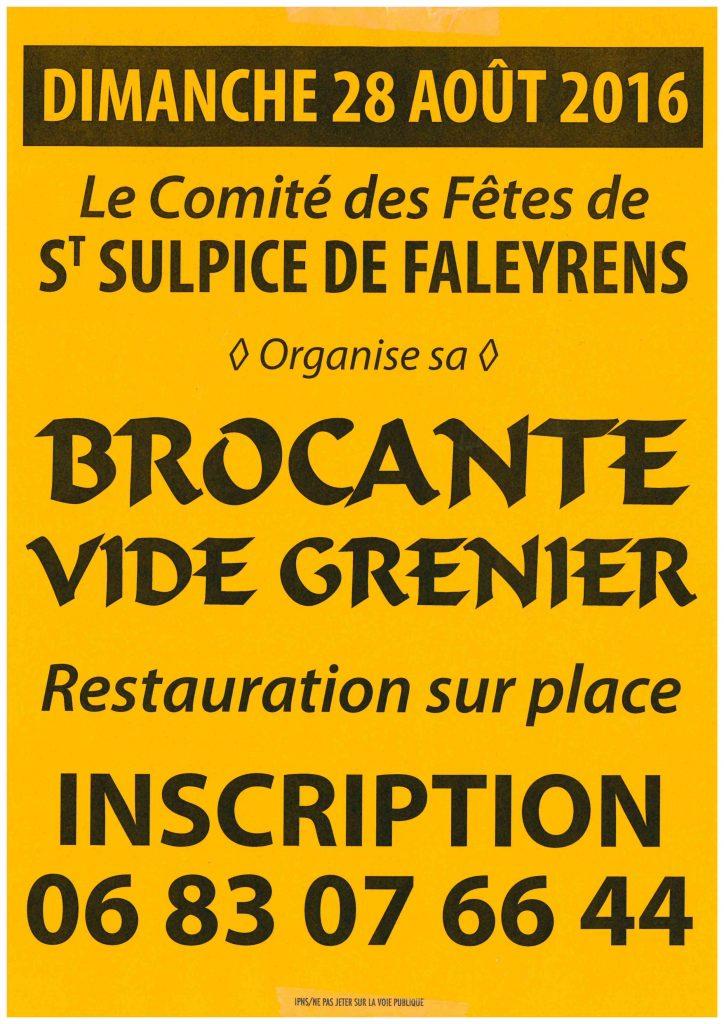 brocante vide grenier le 28 aout saint sulpice de faleyrens. Black Bedroom Furniture Sets. Home Design Ideas