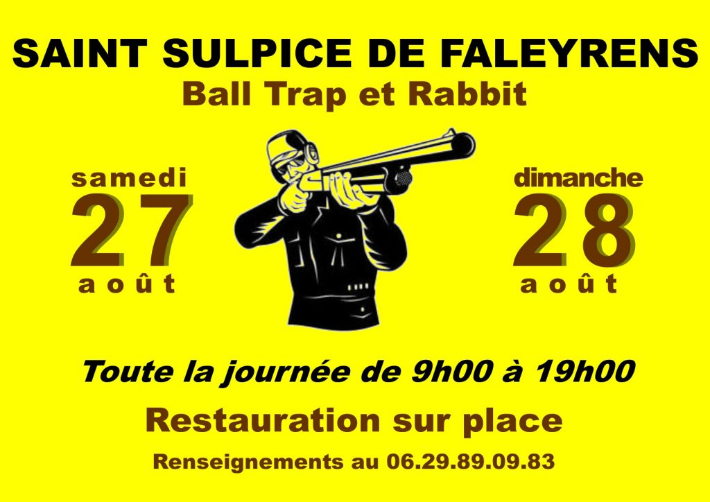 affiche ball trap 27 et 28 aout 2016