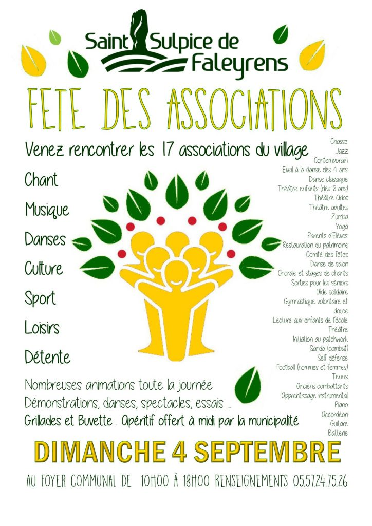 affiche fete des associations