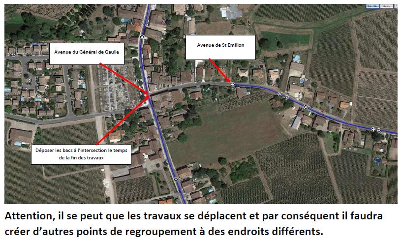 Avenue de Saint-Emilion : vos poubelles pendant les travaux